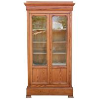 19th Century Louis Philippe Pine Bookcase with Antique ...