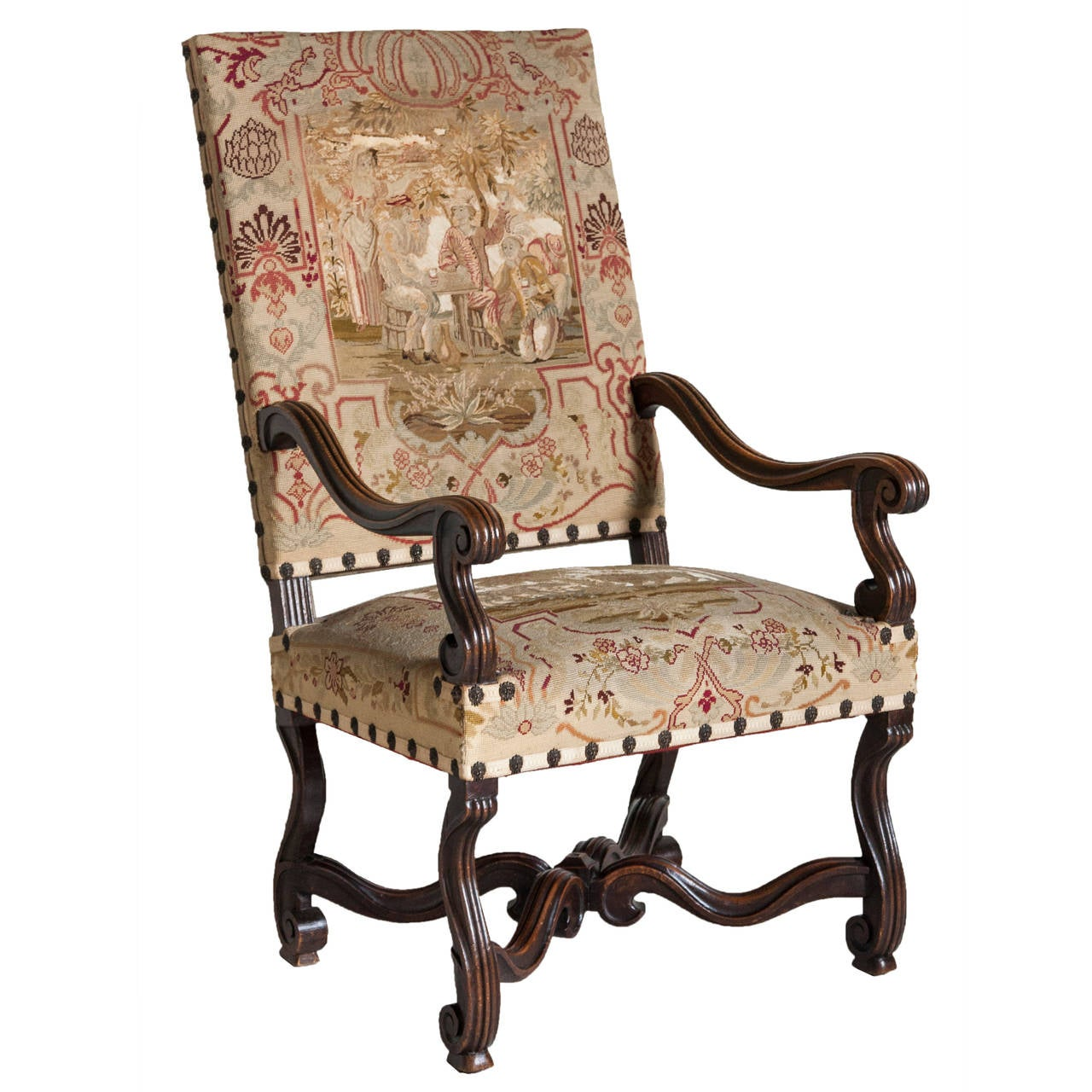 19th Century French Louis XIV Style Armchair with Original