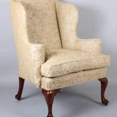 Queen Ann Chairs Madison Park Wingback Chair On Walnut Cabriole Legs In The Classic