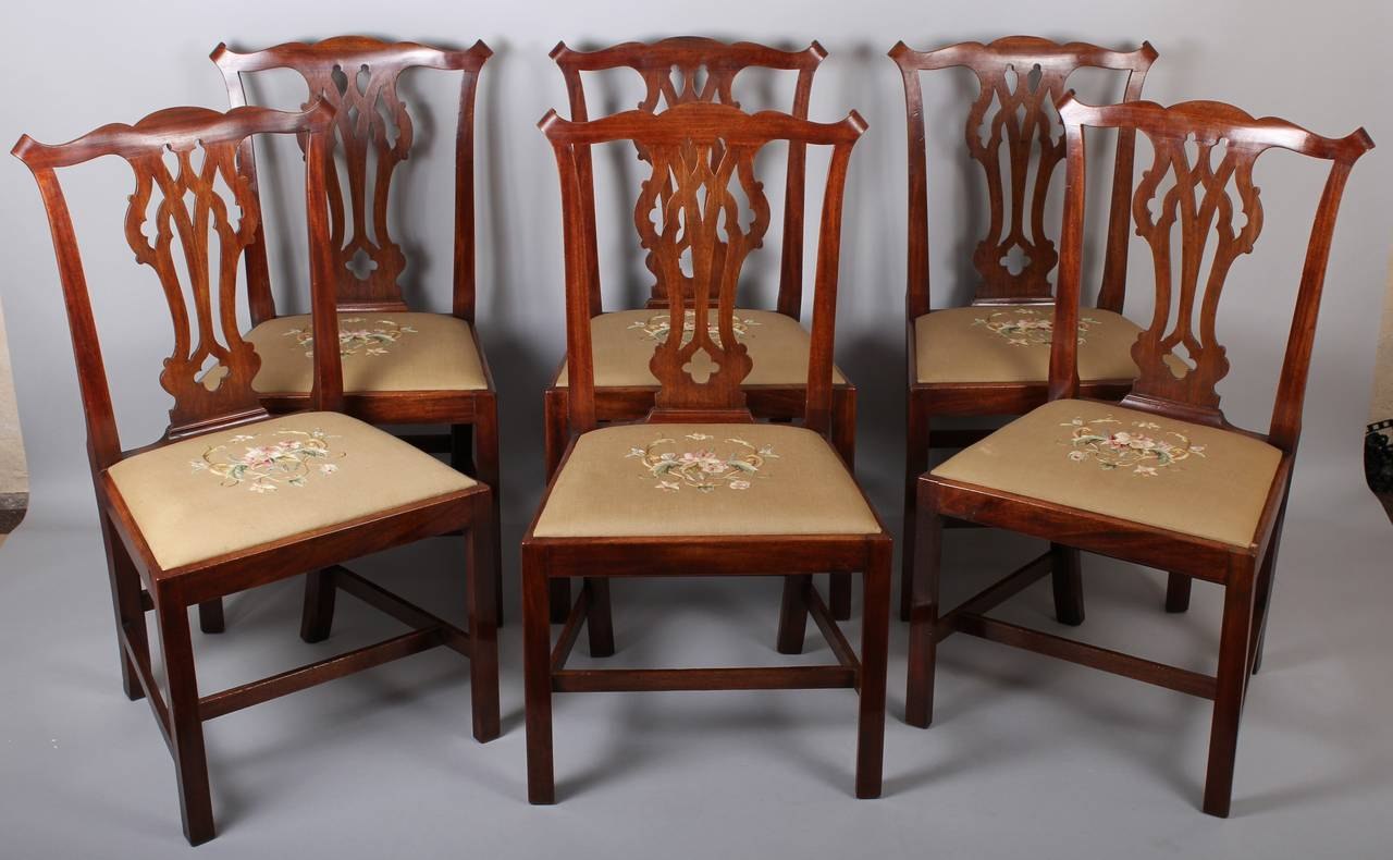 chippendale dining chair swivel history set of six george iii period mahogany 39country