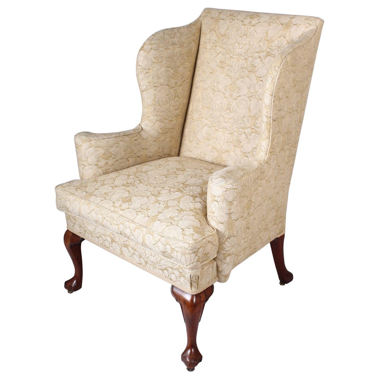 queen anne style chairs wheelchair in french wingback chair on walnut cabriole legs the classic