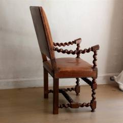 Barley Twist Chair Lazy Boy Lift Chairs Reviews Unique French Walnut Leather Armchair 19th