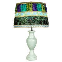 Vintage Jade Colored Stone Lamp at 1stdibs