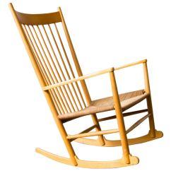 Hans Wegner Rocking Chair Hanging Natural J16 At 1stdibs
