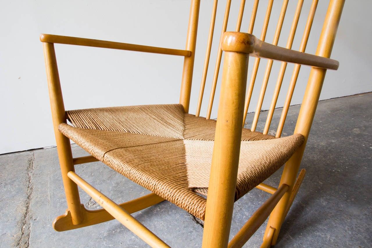 hans wegner rocking chair vitra eames lounge and ottoman j16 at 1stdibs
