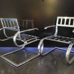 Aluminum Lounge Chairs Childs Wooden Pair Of And Ottoman For Sale At 1stdibs