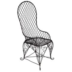 Black Wire Chair Farmhouse Dining Room Chairs Antique For Sale At 1stdibs