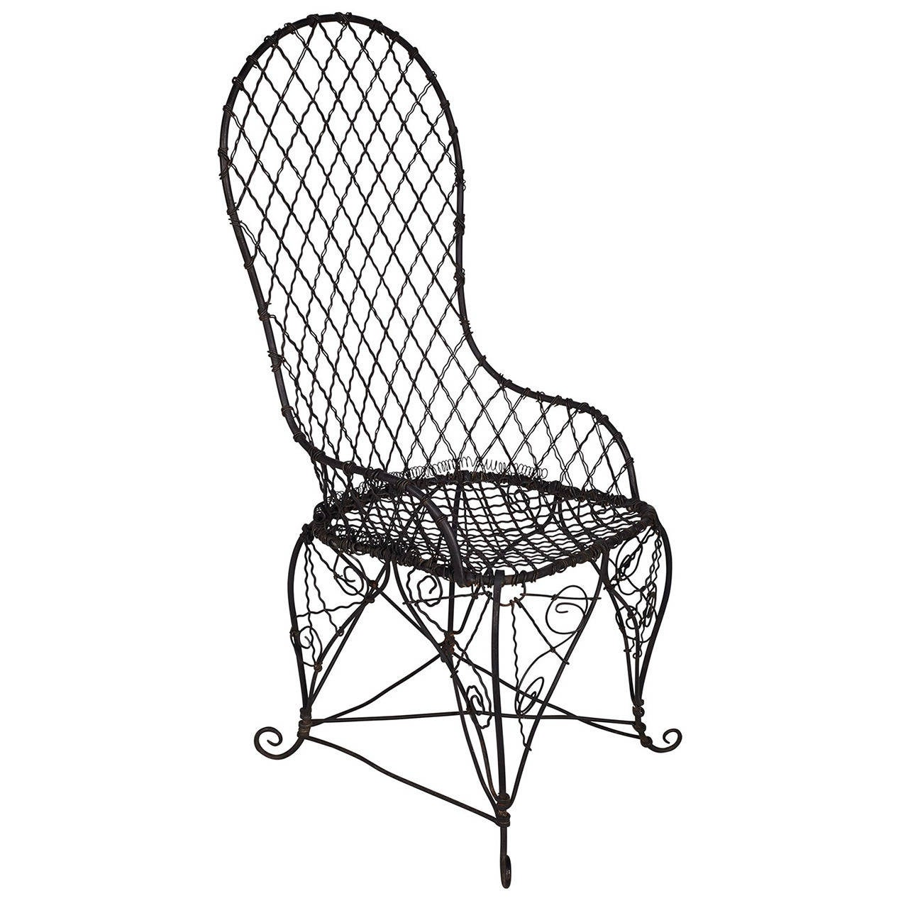 Black Wire Chair Antique Black Wire Chair For Sale At 1stdibs
