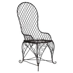 Black Wire Chair And White Covers For Weddings Antique Sale At 1stdibs