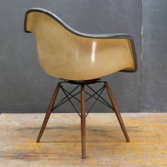 Swivel Chair Wooden Legs Best Chairs Glider Charcoal And Walnut Charles Eames Paw Dowel Leg