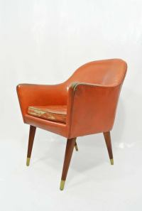 Pair Of Mexican Leather Chairs at 1stdibs