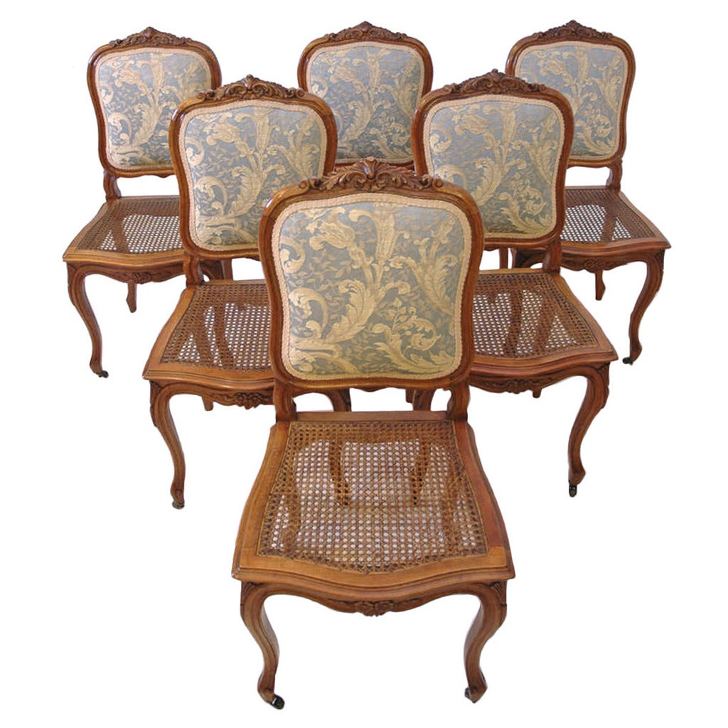 French Dining Chairs Set Of Six French 19th Century Louis Xv Style Dining
