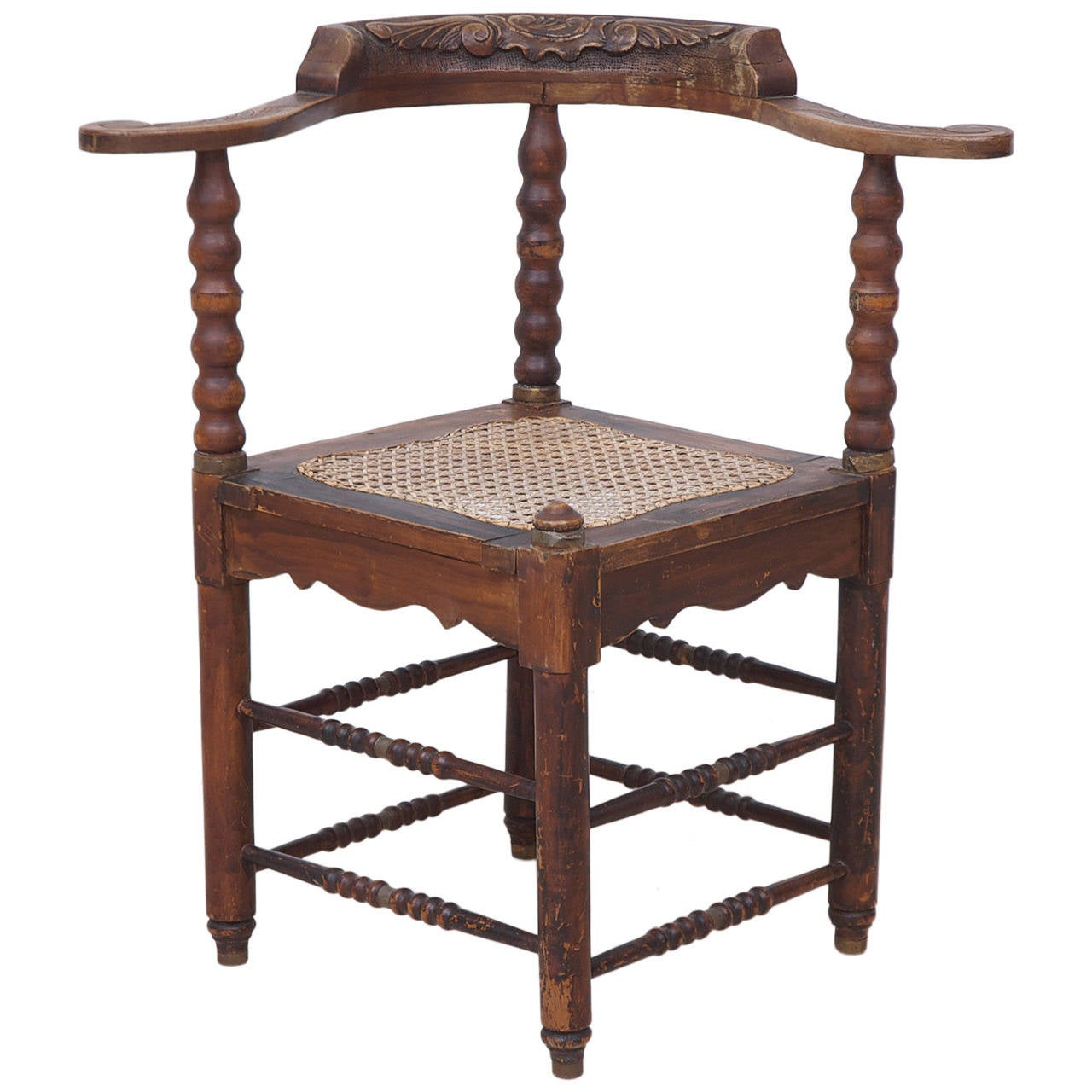 Colonial Chair Dutch Colonial Corner Chair From Suriname For Sale At 1stdibs