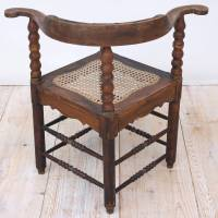 Dutch Colonial Corner Chair from Suriname For Sale at 1stdibs