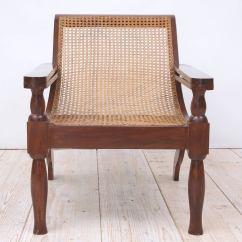 British Colonial Chair Wicker Set West Indies Planters In Mahogany With Caning At 1stdibs