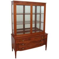Mid-Century Display Cabinet with Flight of Drawers at 1stdibs