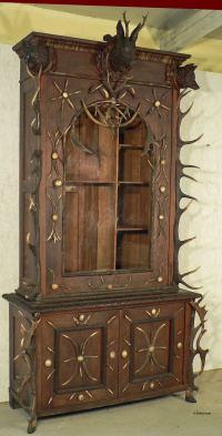 Antique Black Forest Antler Gun Cabinet Bohemia, circa ...