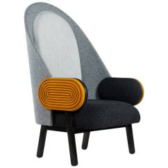 Grey Modern Armchairs Upholstered Office Chair On Wheels Armchair Home Design Conner Lounge By Nuevo Living Light And