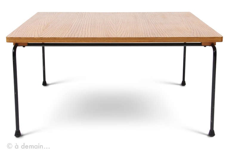 Rare Square Coffee Table Designed By Pierre Paulin And