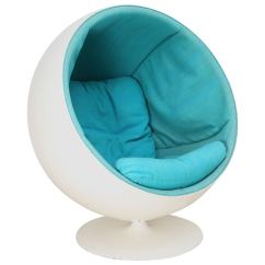 Modern Ball Lounge Chair Office Footrest Designed By Eero Aarnio And Produced Asko In