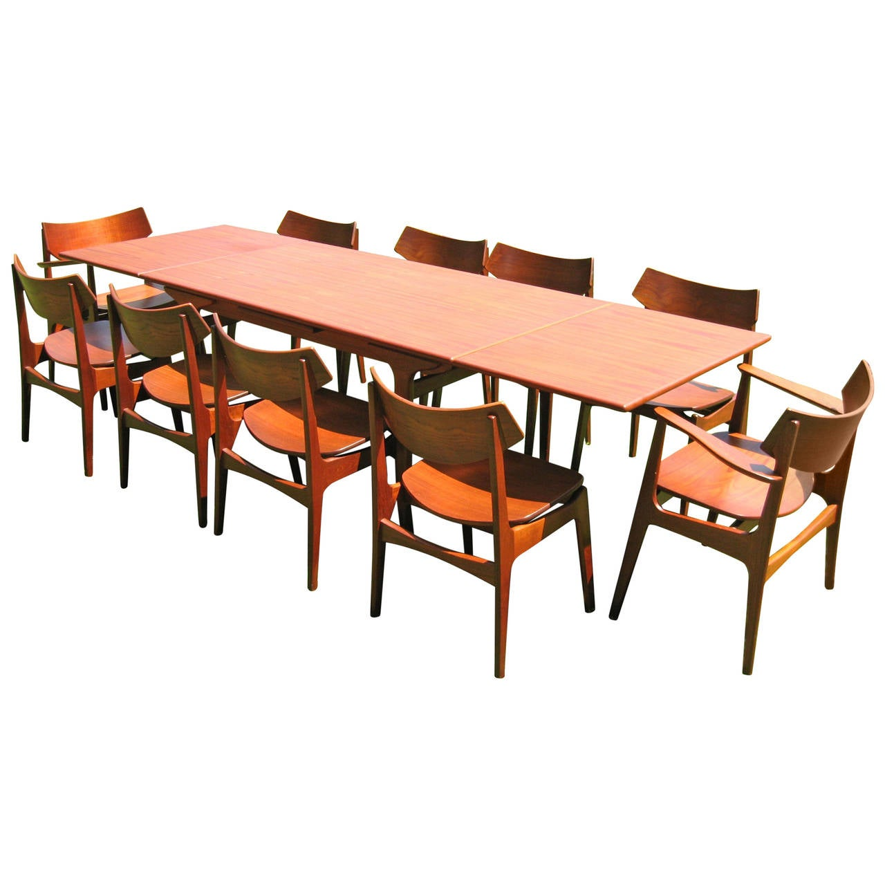 danish modern dining chair best office after spinal fusion teak room table with ten chairs by