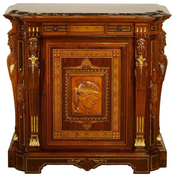 Gustave Herter Renaissance Revival Portrait Cabinet