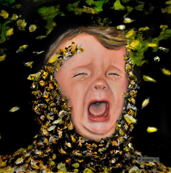 Michael Mararian - Apiphobia Fear Of Bees Painting 1stdibs