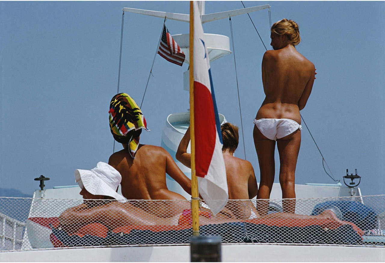 Slim Aarons Yacht Holiday Photograph For Sale At 1stdibs