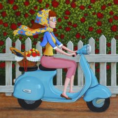 Purple Cuddle Chair Bergere Chairs Fred Calleri - Sweet Intentions, Painting At 1stdibs