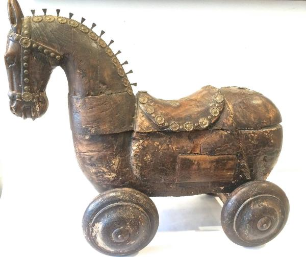 Unknown - Wooden Horse Wheels 1stdibs