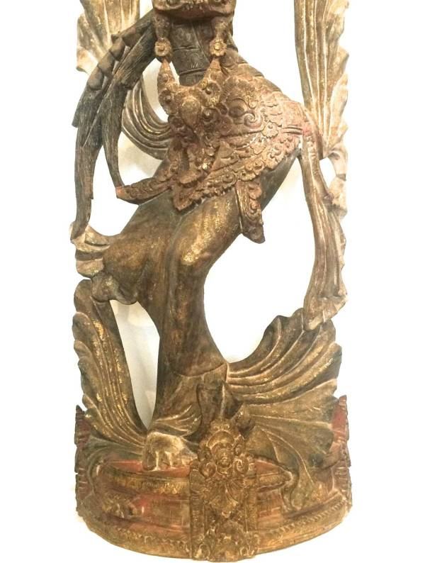 Unknown - Balinese Wood Figure Of Dancer Sculpture 1stdibs