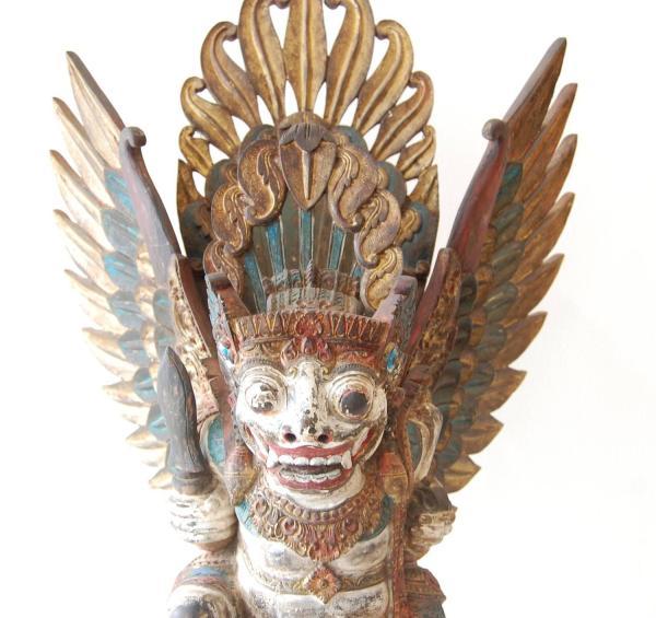 19th Century Wood Sculpture Bali Barong