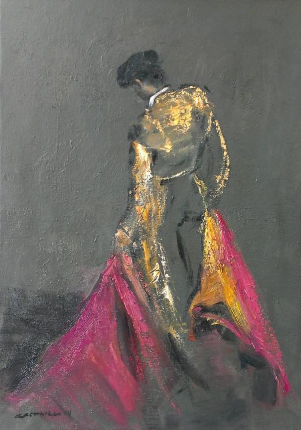 Mae Curates - Oil Painting Matador 1stdibs