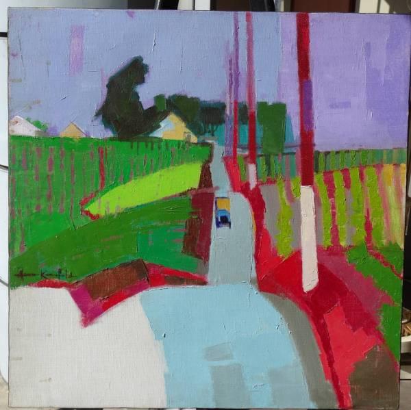 Herbert Kornfeld - Oil Painting California Farm