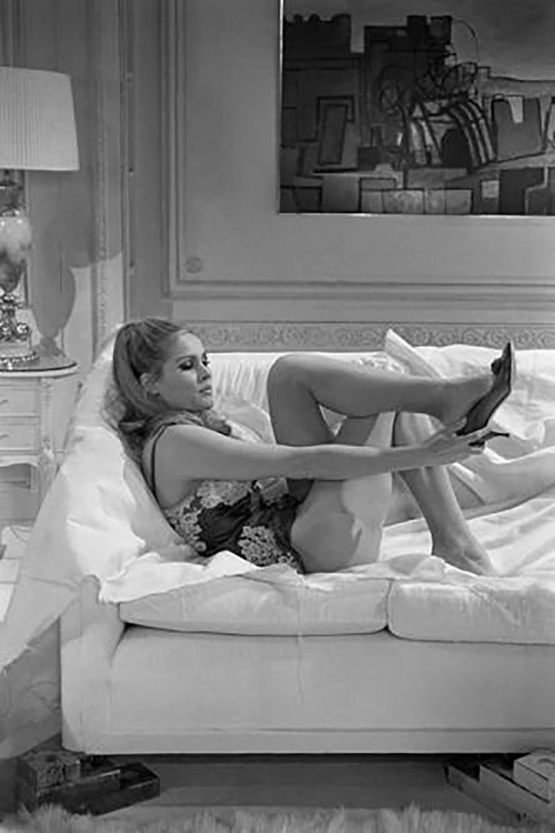 Terry ONeill Ursula Andress Sofa Heels At 1stdibs