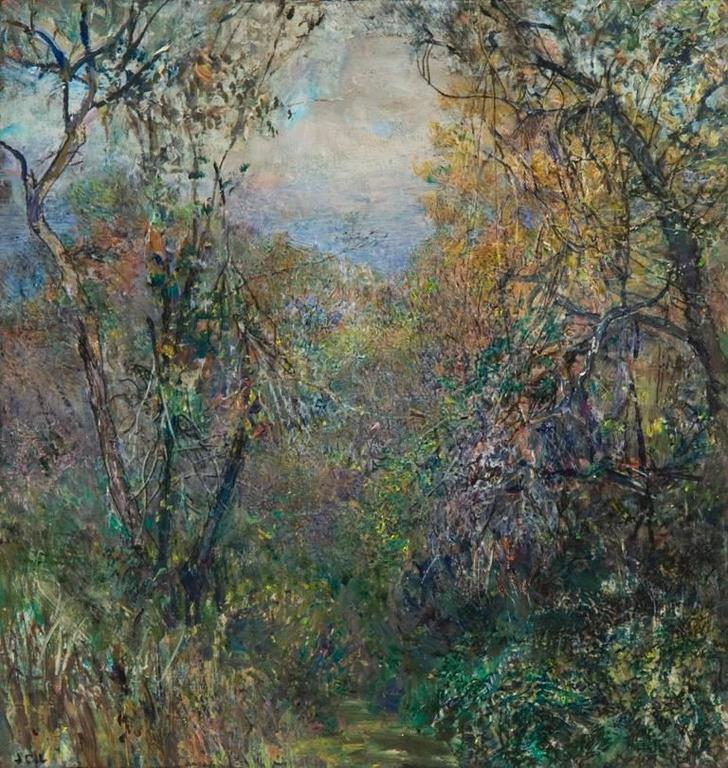 John Cobb Pathway Autumn Painting For Sale At 1stdibs