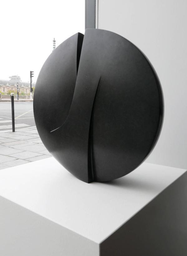 Michel Lucotte - Black Granite Sculpture