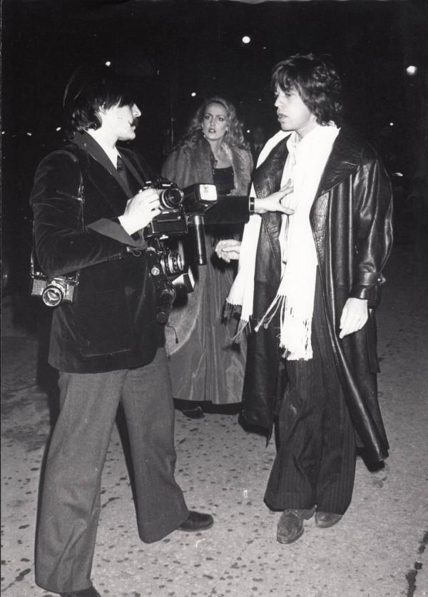 Daniel Angeli - Rolling Stone Mick Jagger And Model Jerry Hall Paris 1978 Original Vintage