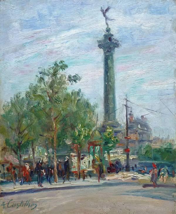 Andr Eugne Costilhes - Place De La Bastille Paris