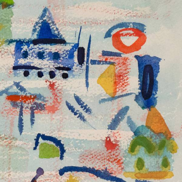 Henry Miller - Abstracted Townscape Painting 1stdibs