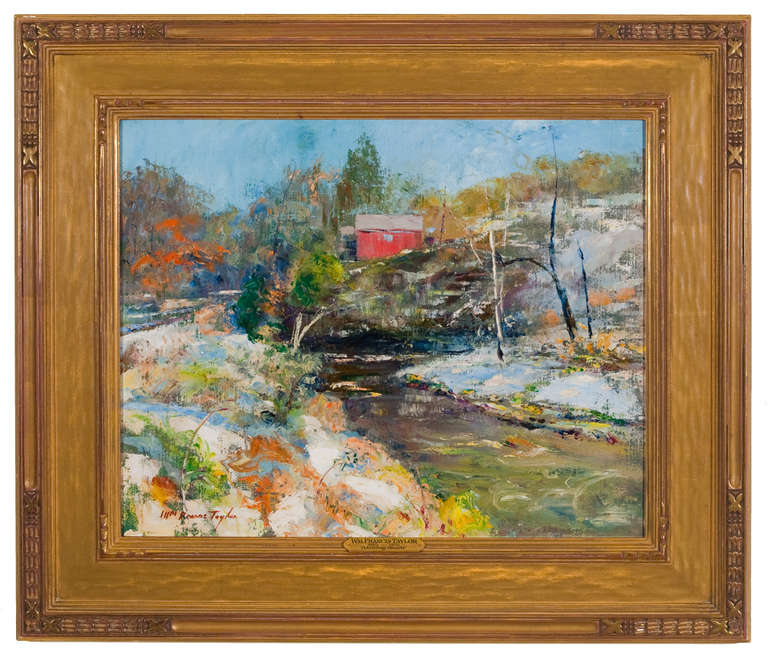 William Francis Taylor Melting Snow Painting At 1stdibs