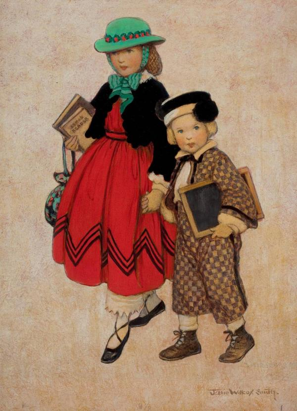 Jessie Willcox Smith - Two Little Girls Good Housekeeping