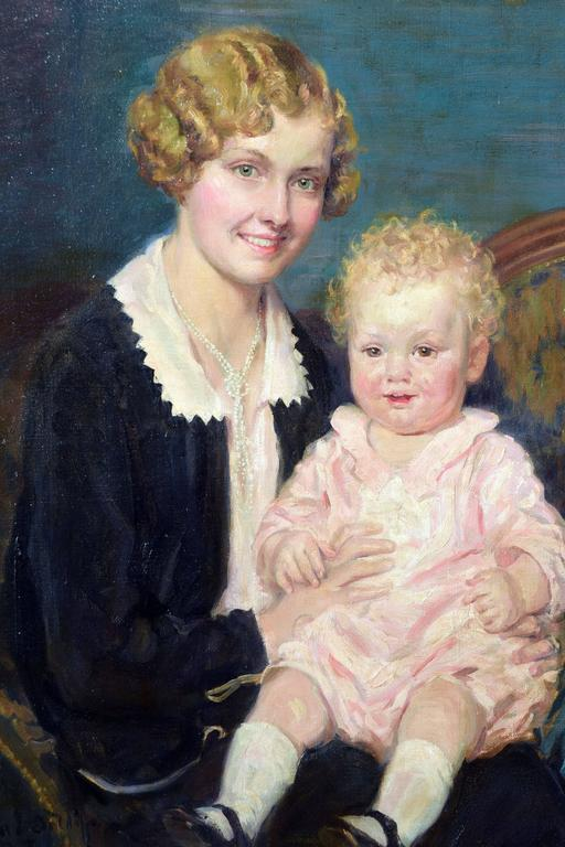 H Willard Ortlip Mother And Baby Painting For Sale At