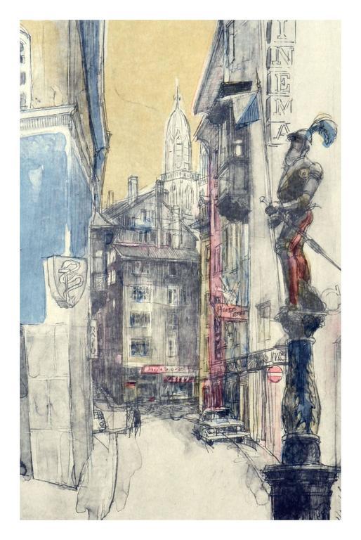 Leon Kroll Cityscape New York Print For Sale At 1stdibs