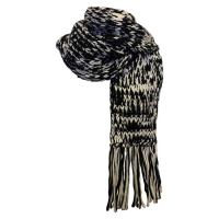 Chanel Black and White Knit Scarf at 1stdibs