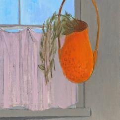 Hanging Chair Rona Ikea Lerhamn Covers Herman Maril Basket Painting At 1stdibs