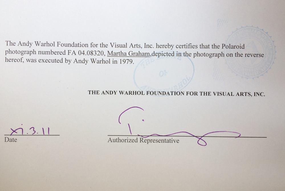 medium resolution of andy warhol andy warhol polaroid photograph of martha graham 1979 for sale at 1stdibs