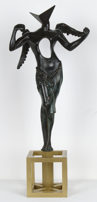 Salvador Dal  Surrealist Angel Bronze Sculpture at 1stdibs
