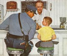 Norman Rockwell Runaway Painting