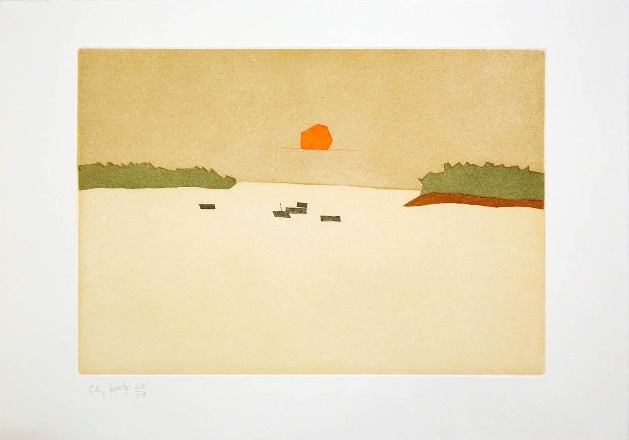 Alex Katz Sunset Cove 1957 From The Portfolio Small